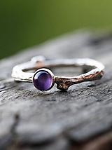 Prstene - Vetvičkový s ametystom - 9749612_