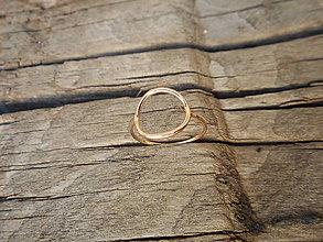 Prstene - Prsteň krúžok ružový - 9747824_