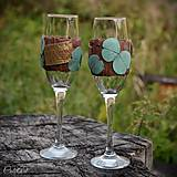 Nádoby - Eukalyptové - sada svadobných pohárov - 9750311_