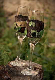 Nádoby - Spoločná cesta zamilovaných - sada svadobných pohárov - 9750232_