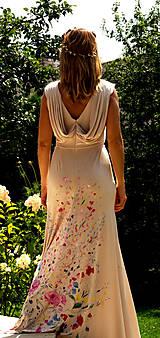 """Šaty - krásne ručne maľované svadobné šaty """"Vintage"""" - 9747986_"""