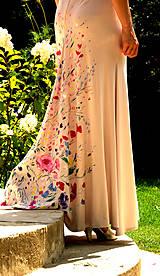 """Šaty - krásne ručne maľované svadobné šaty """"Vintage"""" - 9747989_"""