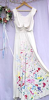 """Šaty - krásne ručne maľované svadobné šaty """"Vintage"""" - 9747991_"""