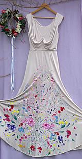 """Šaty - krásne ručne maľované svadobné šaty """"Vintage"""" - 9748003_"""