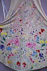 """Šaty - krásne ručne maľované svadobné šaty """"Vintage"""" - 9748004_"""