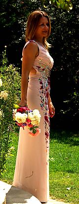 """Šaty - Ručne maľované svadobné šaty """"Flowers in Rome"""" - 9749911_"""