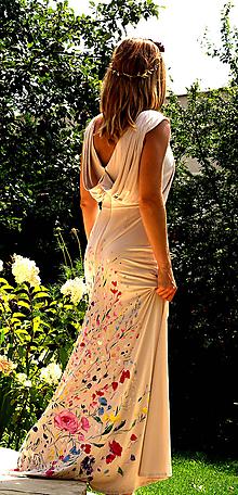 """Šaty - krásne ručne maľované svadobné šaty """"Vintage"""" - 9747987_"""