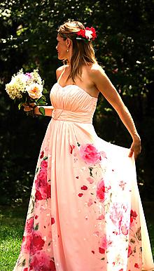 """Šaty - romantické ručne maľované svadobné šaty """"Rose"""" - 9748503_"""