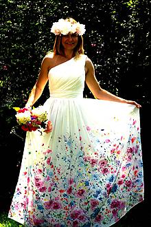 Šaty - ručná originálna maľba na prianie podľa Vašich predstáv - 9748954_