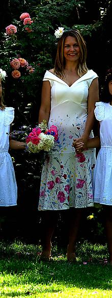 """Šaty - krásne ručne maľované svadobné šaty  """"prairie bardot"""" - 9749152_"""