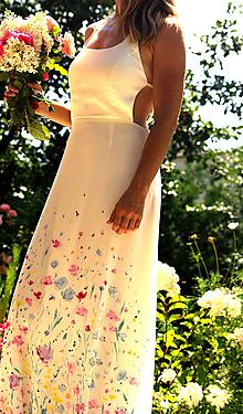 """Šaty - krásne ručne maľované svadobné šaty  """" meadow """" - 9749546_"""