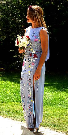Šaty - nežné romantické ručne maľované svadobné šaty