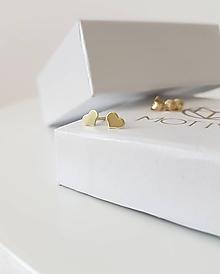 Náušnice - Náušnice srdiečka žlté zlato - 9749319_