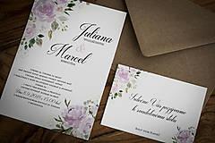 Papiernictvo - Svadobné oznámenie - Ružová svadba (Obálka hnedá) - 9750570_