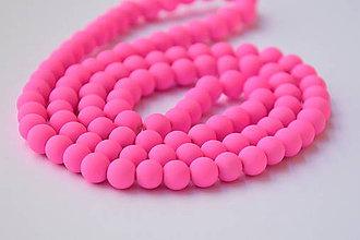 Korálky - SKO6828, Sklenené matné korálky-Pink /10ks - 9750269_