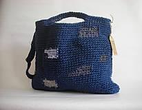 Veľké tašky - Modrý Mondrian - 9747559_