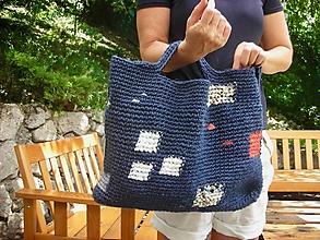 Veľké tašky - Modrý Mondrian - 9747569_