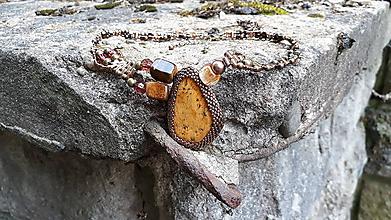 Náhrdelníky - Náhrdelník Oko tigra - 9749823_