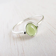 Prstene - August: VivatGreen / Peridot 5x7mm - 9749533_