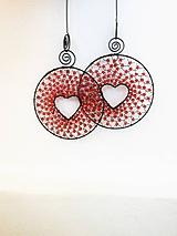 Dekorácie - Srdíčko v kolečku - červené - 9749057_