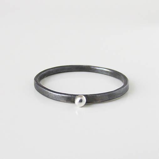 Prstene - MiniMe / Basic (Moon Eclipse hladký / s guličkou) - 9748286_