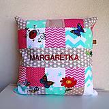 Úžitkový textil - Bavlnená patchwork obliečka na vankúš - 9749881_