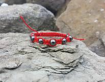 Náramky - Shamballa červený s hematitom - detský - 9748544_