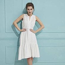 Šaty - Madeirové šaty s volánom - 9751109_