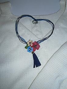 Náhrdelníky - hippie flowers - 9751857_