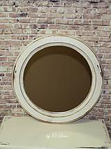 Zrkadlá - Vintage okrúhle zrkadlo -zlatá patina  - ZĽAVA - 9751111_