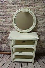Zrkadlá - Vintage okrúhle zrkadlo -zlatá patina  - ZĽAVA - 9751113_