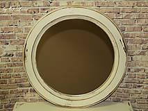 Zrkadlá - Vintage okrúhle zrkadlo -zlatá patina  - ZĽAVA - 9751114_