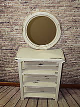 Zrkadlá - Vintage okrúhle zrkadlo -zlatá patina  - ZĽAVA - 9751115_