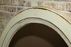 Zrkadlá - Vintage okrúhle zrkadlo -zlatá patina  - ZĽAVA - 9751116_