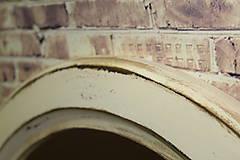 Zrkadlá - Vintage okrúhle zrkadlo -zlatá patina  - ZĽAVA - 9751122_