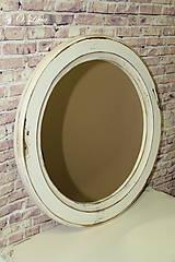 Zrkadlá - Vintage okrúhle zrkadlo -zlatá patina  - ZĽAVA - 9751125_