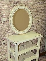 Zrkadlá - Vintage okrúhle zrkadlo -zlatá patina  - ZĽAVA - 9751127_