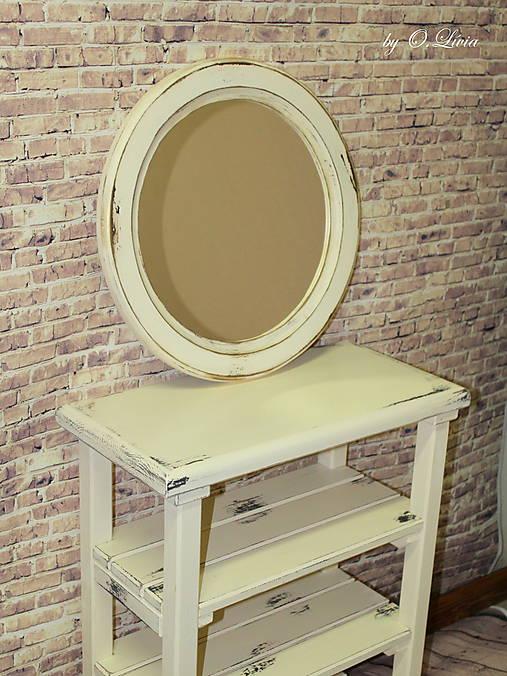Vintage okrúhle zrkadlo -zlatá patina  - ZĽAVA
