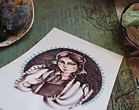Grafika - Dievča židovské - 9751219_