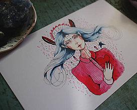 Grafika - Biela Čarodejka - 9751205_
