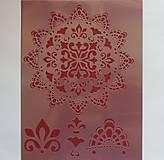 - Šablóna - 20x30 cm - mandala, etno, india, krajka, čipka, kvet - 9752507_