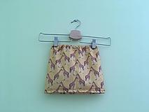 Detské oblečenie - Sukňa Žirafky - 9753271_