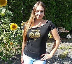 Tričká - tričko-golden heart - 9751512_