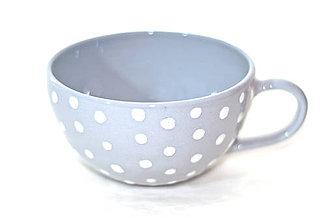 Nádoby - Veľká šedá keramická šálka - 9751257_