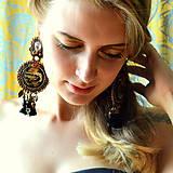 Náušnice - Gilded Earrings n.3 - sutaškové náušnice - 9753099_