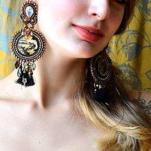 Náušnice - Gilded Earrings n.3 - sutaškové náušnice - 9753098_
