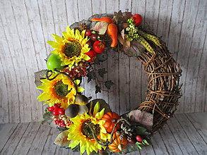Dekorácie - Jesenný veniec - 9751000_