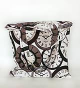 Nákupné tašky - Skladacia eko nákupná taška hodiny - 9752037_
