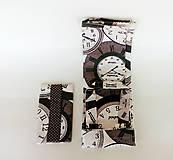 Nákupné tašky - Skladacia eko nákupná taška hodiny - 9752038_
