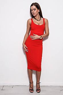 Šaty - Obtiahnuté midi šaty vo všetkých farbách - 9752697_